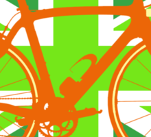 Bike Flag United Kingdom (Green) (Big - Highlight) Sticker