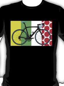 Bike Tour de France Jerseys (Vertical) (Big - Highlight)  T-Shirt