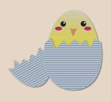 Super cute chicken in a broken egg by jazzydevil