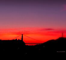 Golden Gate  sunset by Charmiene Maxwell-batten