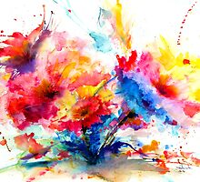 Watercolor Garden by IsabelSalvador