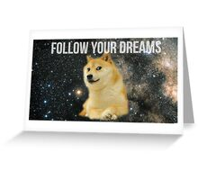 Doge Shibe Meme  Greeting Card