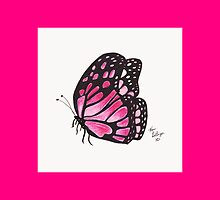 Magenta Border Pink Butterfly Pillow by Kevin Dellinger