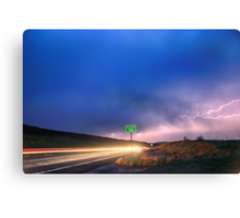Cruising Highway 36 Into the Storm  Canvas Print