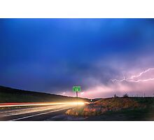 Cruising Highway 36 Into the Storm  Photographic Print
