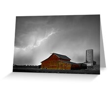 Watching The Storm From The Farm BWSC Greeting Card