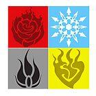RWBY Symbols by andio393