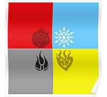 RWBY Symbols 2 Poster