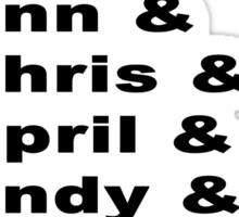 Parks & Rec Cast Sticker