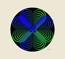 sdd Heart blue green Fractal 2C by mandalafractal