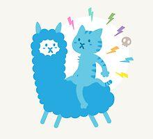 Alpaca Rider by catmoji
