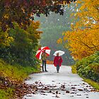 Rainy Day in the Gardens. by Bette Devine