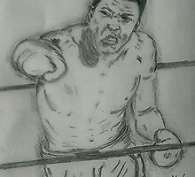 Muhammad Ali art by Collin Clarke BSc