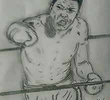 Muhammad Ali art by Collin A. Clarke