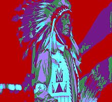 Indian Chief Pop Art by Icarusismart