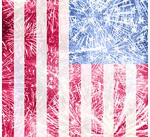 4th of July - American Firework Flag by andabelart