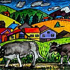 A folksy Cow Hike by Monica Engeler