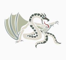 white snake dragon Kids Clothes