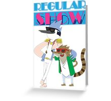 Mordecai & Rigby Miami Vice Greeting Card