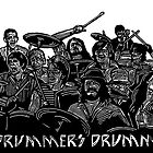 12 Drummers Drumming by Ieuan  Edwards