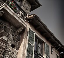 Windows of old Venetian houses art photo print by ArtNudePhotos