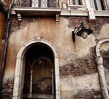 Arched passage in old rustic Venetian house art photo print by ArtNudePhotos