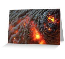Flaming Seashell 1 Greeting Card