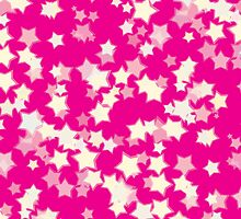 Confetti Star Pattern (PINK x2) by Nina Buie