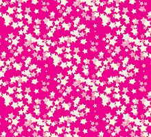 Confetti Star Pattern (PINK x3) by Nina Buie