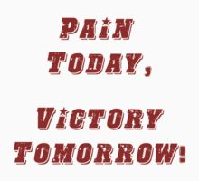 Pain Today, Victory Tomorrow! by teddib