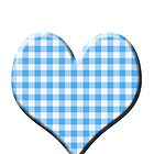 Blue Gingham loveheart (Digital composition) by funkyworm