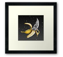 Moon Banana! Framed Print