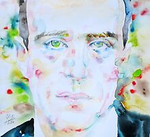BORIS VIAN - watercolor portrait by lautir