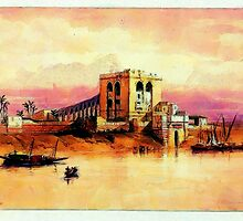 The River Nile at Cairo 19th century by Dennis Melling