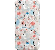 pattern love birds  iPhone Case/Skin