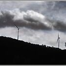 Turbines in a Painted Sky by Wayne King