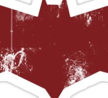 Red Hood Grunge Logo Sticker