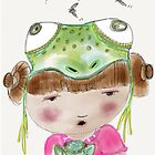 My Favourite Animal is the Frog - Throw Pillow by Beatrice  Ajayi
