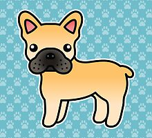 Fawn French Bulldog Dog Cartoon by destei