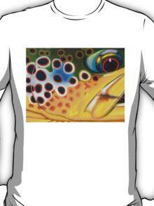 Brown Trout on Parachute Adams T-Shirt