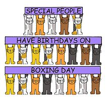 Cats celebrating birthday on December 26th. by KateTaylor