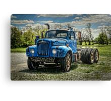 Mack B-61 Thermodyne Semi Tractor Truck Canvas Print