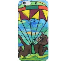 Sky diving Cool Cat  iPhone Case/Skin