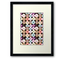 pattern delicious donuts  Framed Print