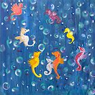 Sea Horse abstract by Tracey Quick