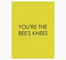 You're the Bee's Knees (Honeycomb Background) Kids Clothes