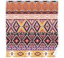 Navajo colorful  tribal pattern  Poster