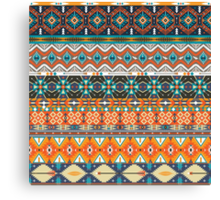 Native american colorful  tribal pattern  Canvas Print