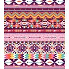 Colorful  native american  pattern with geometric elements by tomuato