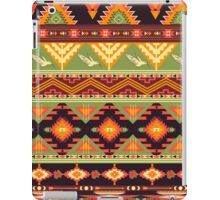 Seamless colorful aztec pattern with birds and arrow iPad Case/Skin